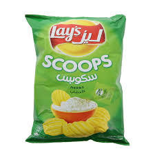 Lays Chips Scoops Herbs 165g