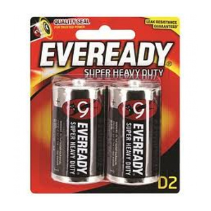 Eveready D2 Super Heavy Duty Battery 2s