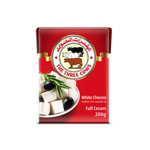 The Three Cows White Cheese Red Block 200g