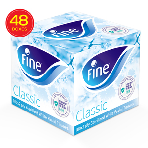 Fine Sterilized Facial Tissue Classic Cubic 100x2ply