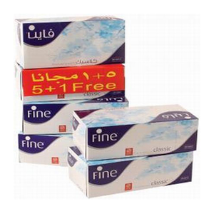 Fine Sterilized Facial Tissues Classic White Tissues 6pc