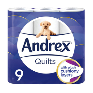 Andrex Toilet Tissue Standard Quilted 5x9s