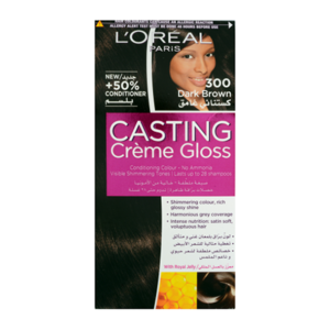 L'Oreal Casting Creme Gloss Darkest Brown Hair Color #300 1set