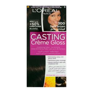 L'oreal Casting Creme Gloss Darkest Brown Hair Color #300 1set