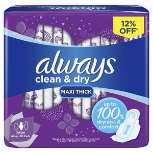 Always Large With Wings Sanitary Pads 30pcs