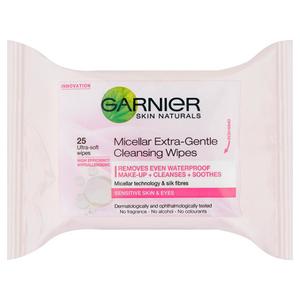 Garnier Skin Naturals Cleansing Wipes Dry & Sensitive 25tabs