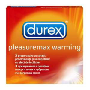 Durex Pleasure Me Warming Ribbed And Dotted Condom 12pcs