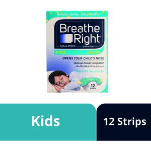 Breathe Right Nasal Strips Kids 12s