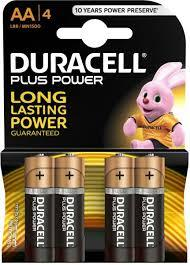 Duracell Battery Plus Power Aa4 1pkt