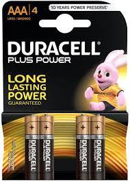 Duracell Battery Plus Power Aaa4 1pkt