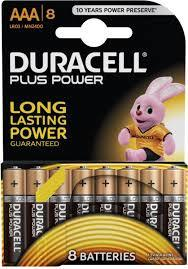 Duracell Battery Plus Power Aaa8 1pkt