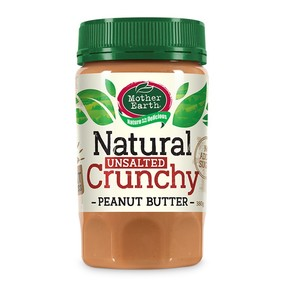 Mother Earth Unsalted Peanut Butter Crunchy 380g