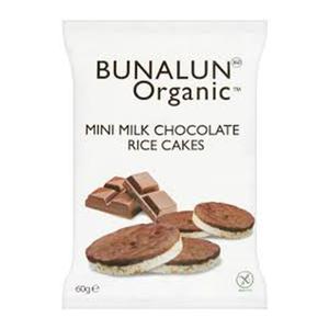 Bunalun Rice Cake Milk Chocolate Mini 60gm