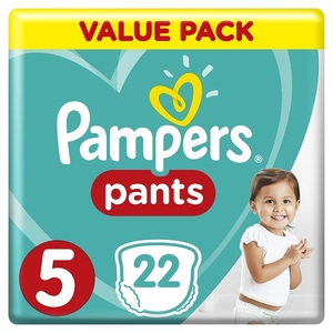 Pampers Pants Diapers Size 5 Junior 12-18 Kg Carry Pack 22 pcs