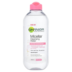 Garnier Skin Active Micellar Cleansing Water All In 1 Cleanser & Makeup Cleaner 400ml