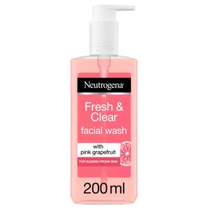 Neutrogena Fresh & Clear Facial Wash Pink Grapefruit & Vitamin C 200ml