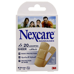 Nexcare Assorted Sheer Bandages 20s