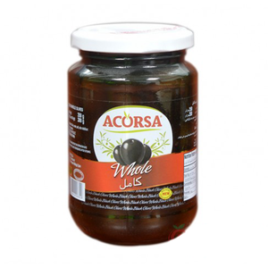 Acorsa Olives Black Plain Jar 350g