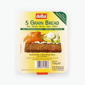 Delba 5 Grain Bread 250g
