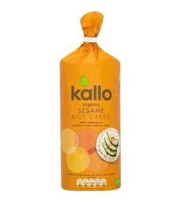 Kallo Organic Sesame Rice Cakes 130g