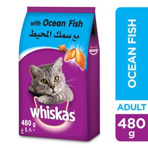 Whiskas Ocean Fish Dry Cat Food 1+ Years 480g
