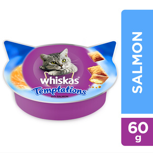 Whiskas Temptations With Salmon Cat Treats 60g