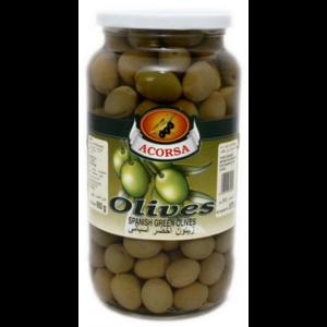 Acorsa Olives Green Plain Jar 350g