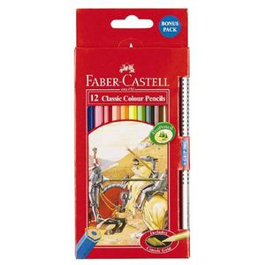 Faber Castell 12 Colour Card Sm 4pcs