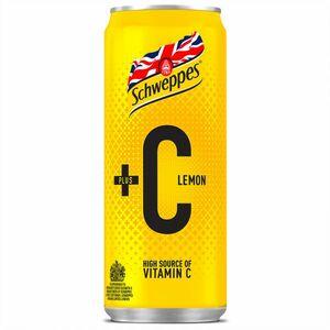 Schweppes Lemon +C Can 330ml