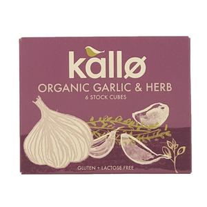 Organic Garlic & Herb Stock Cubes 66 G Gluten & Lactose Free 66g