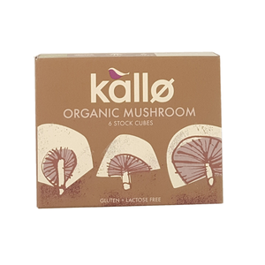 Kallo Organic Mushroom Stock Cubes 66 G Gluten & Lactose 66g