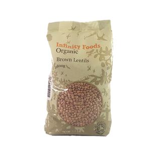 Organic Brown Lentils 500g