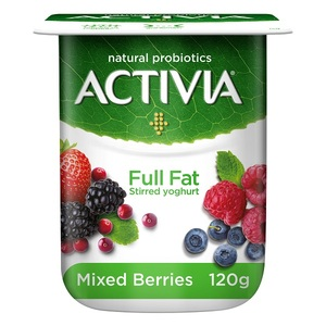Activia Stirred Yoghurt Full Fat Mixed Berries 120g