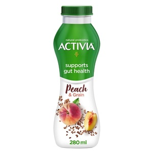 Activia YoghurtGo Drinkable Yoghurt Snack Peach & Seeds 280ml