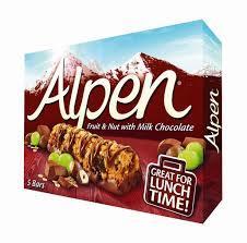 Alpen Bar Fruit N Nut Milk Choco 5 pcs