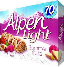 Alpen Light Summer Fruit Cereal Bar 5 pcs