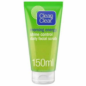Clean & Clear Daily Face Scrub Morning Energy Shine Control 150ml
