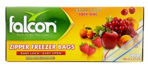 Falcon Freezer Zipper Bag 21 X 18 Cm 50pc