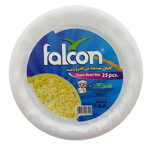 Falcon Retail Foam Bowl 8 Oz ( Med ) 25pc