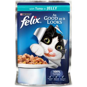 Purina Felix Wet Cat Single Serve As Good As It Looks Tuna 100g