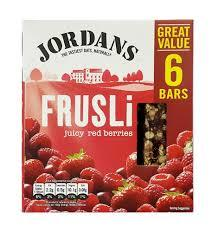 Jordan Wild Berries Frusli Bar 6 X36 Gm 6x36gm