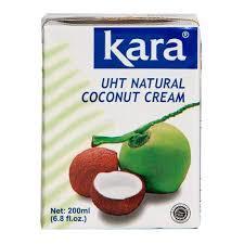 Kara UHT Natural Coconut Cream 200g