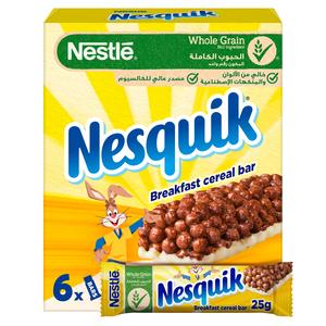 Nesquik Chocolate Breakfast Cereal Bar 6x25g