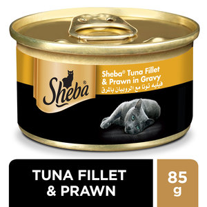 Sheba Tuna & Prawn in Seafood Wet Cat Food Can 85g