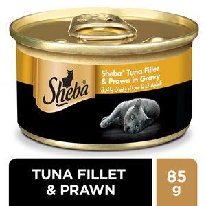 Sheba Tuna & Prawn in Seafood Wet Cat Food Can 85g