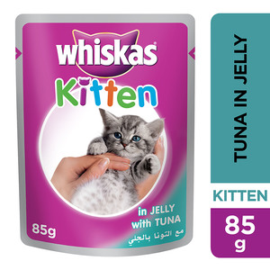Whiskas In Jelly With Tuna Wet Cat Food Kitten Up To 1 Year Pouch 85g