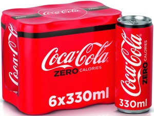 Coca-Cola Zero Can 6x330ml