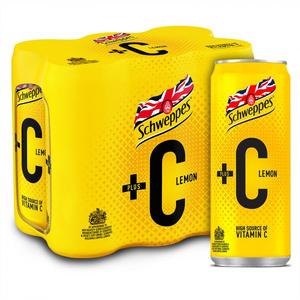 Schweppes Lemon +C Can 6x330ml