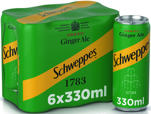 Schweppes Ginger Ale Can 6x330ml