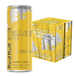 Red Bull Energy Drink Tropical Yellow Edition 4x250ml